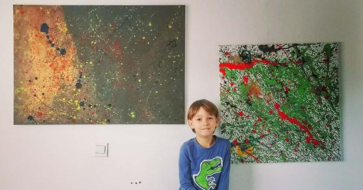 Meu Filho Tem Autismo E Se Expressa Através Da Pintura, E Aqui Estão 29 De Suas Melhores Obras De Arte