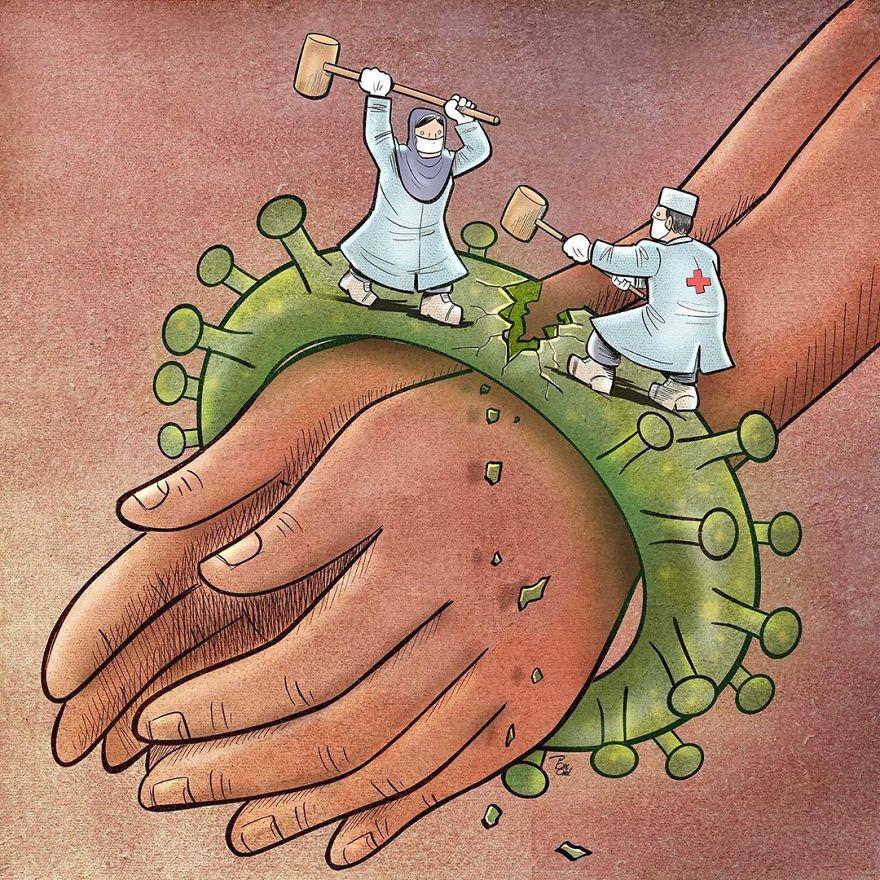 29 Ilustrações Que Agradecem Aos Médicos Por Seu Trabalho Difícil Durante O Covid-19