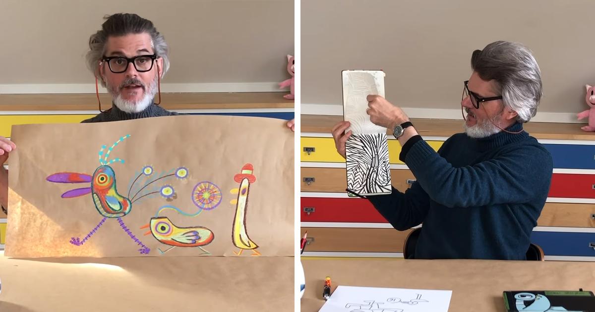 Este Homem Ensina Crianças Em Quarentena A Desenhar Gratuitamente
