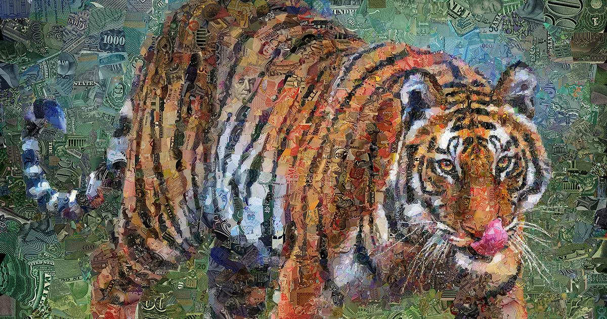 12 Retratos Bem Detalhados De Animais Selvagens Feitos A Partir De Notas De Dinheiro