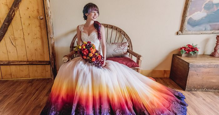 Artista Abre Loja De Vestidos De Noiva Alegres E Coloridos
