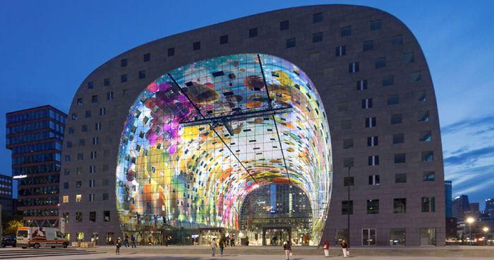 Conheça Este Mural Digital Enorme E Artístico Na Holanda