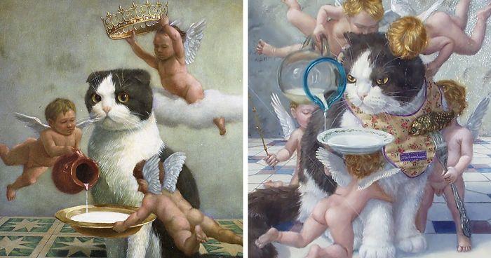 Este Artista Captura A Verdadeira Realeza Dos Gatos Com Suas Pinturas A Óleo