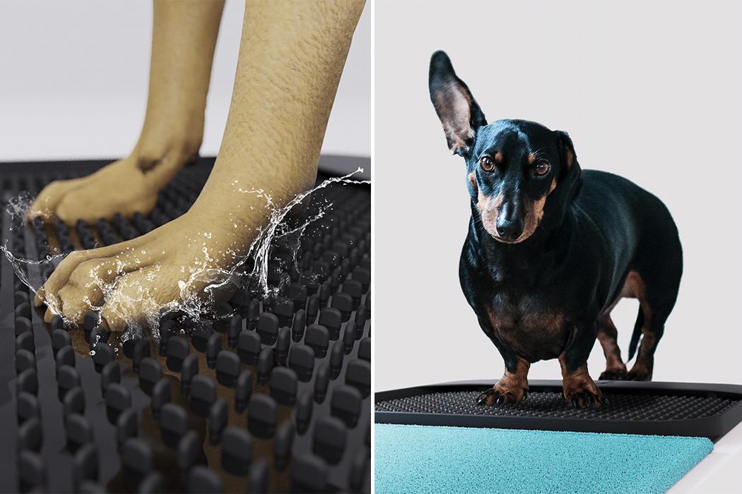 Este Tapete Portátil É Perfeito Para Limpar, Secar E Desinfetar As Patas Do Seu Pet