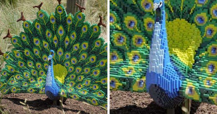 Este Zoológico Coloca Réplicas De Animais Selvagens Feitas Com Mais De Três Milhões Peças De LEGO