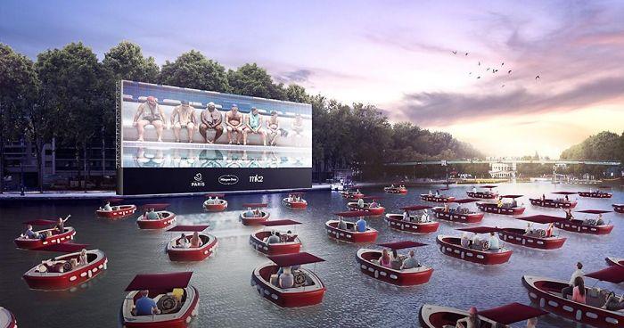 Paris Inaugura Um Criativo Cinema Flutuante Para Respeitar O Distanciamento Social