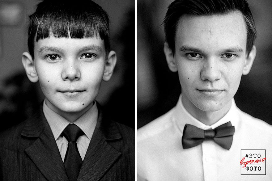9 Fotografias Das Mesmas Pessoas Separadas Por 6 Anos Que Mostram Quão Rápido As Crianças Crescem