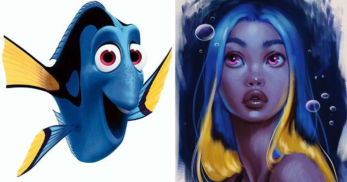 Artista Transforma Animais Da Disney Em Seres Humanos Usando Estilo Próprio