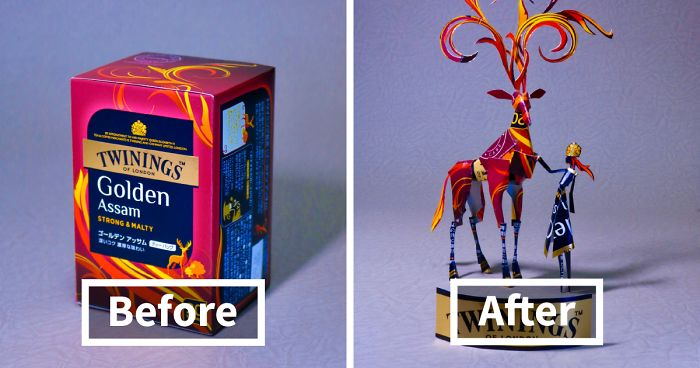16 Embalagens Redesenhadas Em Esculturas Incríveis