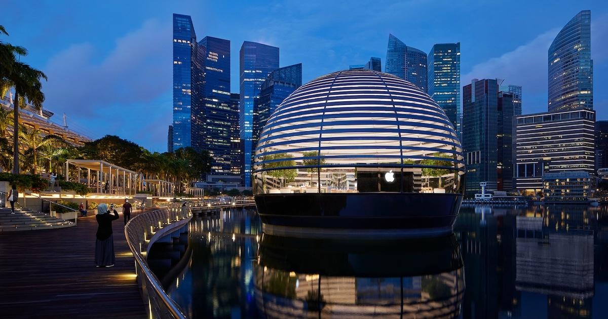 Esta Loja Da Apple De Cingapura É Uma Bolha De Vidro Elegante E Flutuante