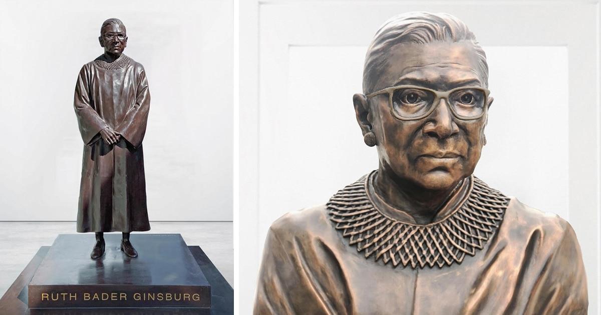 Estátua De Bronze Da Juíza Ruth Bader Ginsburg Será Inaugurada Para O Mês De História Da Mulher De 2021