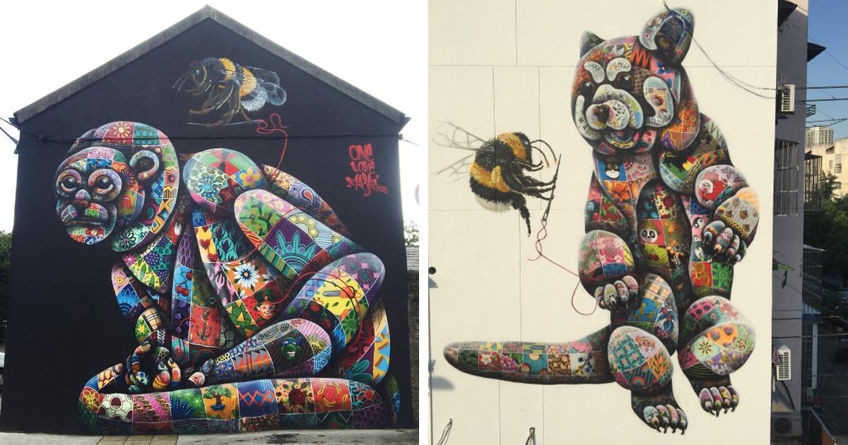 Murais De Animais Aumentam A Conscientização Sobre Espécies Ameaçadas De Extinção
