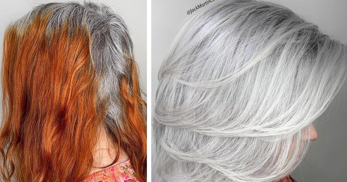15 Incríveis Transformações De Mulheres Que Aceitaram Seus Cabelos Grisalhos