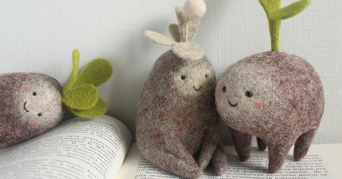 Adoráveis Criaturas Em Miniatura Feitas A Partir De Feltro