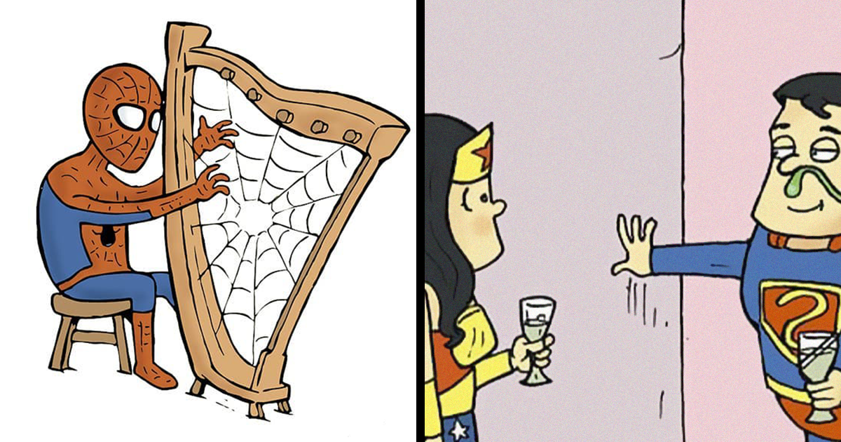 30 Quadrinhos Que Mostram O Que Os Super-Heróis Estão Fazendo Em Seu Tempo Livre