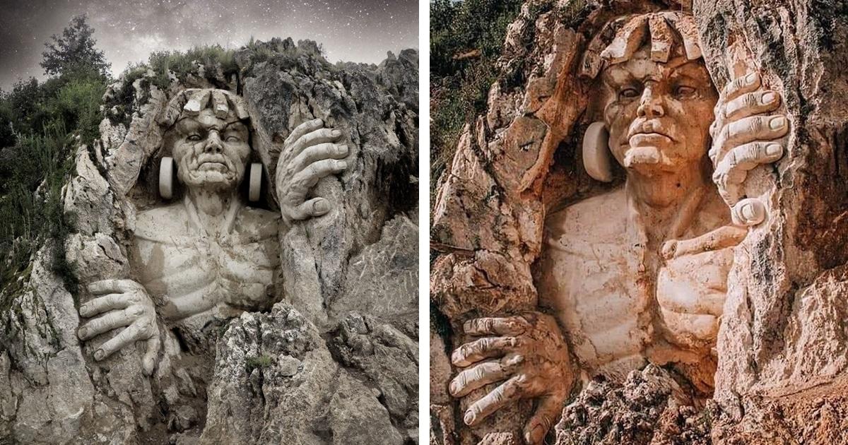 Esculturas De Antigos Deuses Andinos Do Peru