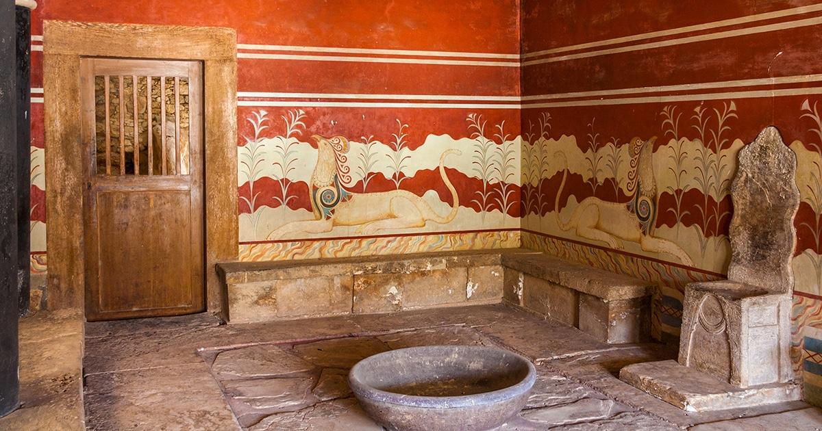 Este Antigo Palácio Na Ilha De Creta Tem A Sala Mais Antiga Da Europa