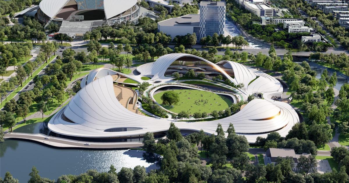 O Enorme Centro Cívico Da China Terá Design Inspirado No Mar