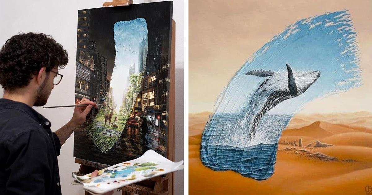 Pinturas Imaginam Um Futuro Entre Natureza E Ambientes Urbanos
