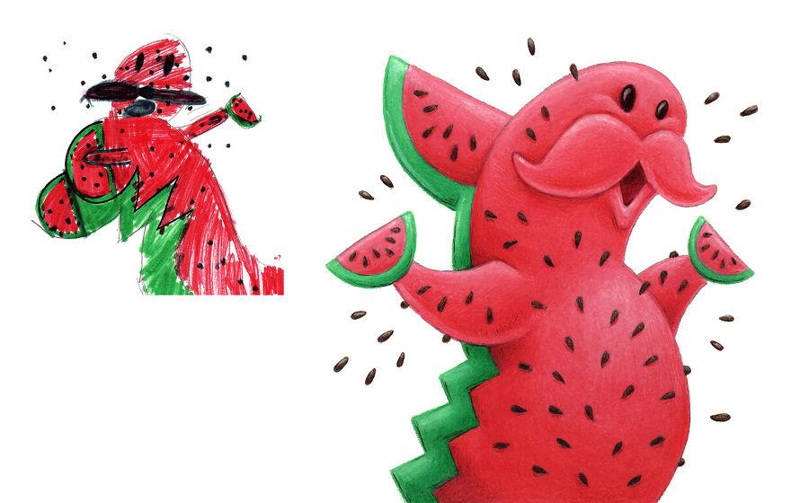 Mae Desenha Monstros Com Base Em Desenhos Infantis E Aqui Estao