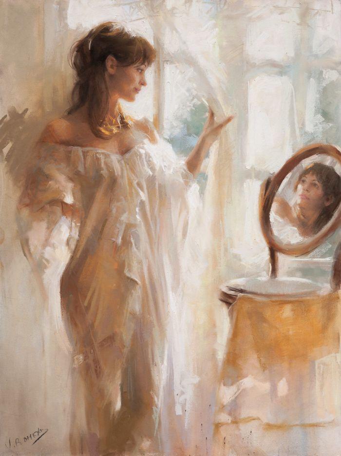 Artista espanhol converte momentos íntimos de mulheres lindas em ...